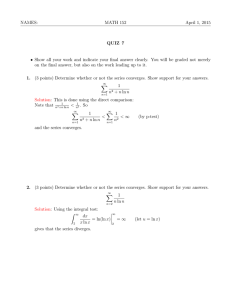 NAMES: MATH 152 April 1, 2015 QUIZ 7