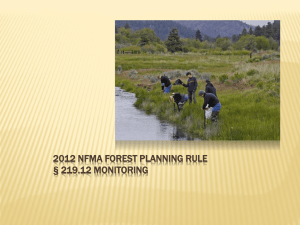 2012 NFMA FOREST PLANNING RULE § 219.12 MONITORING
