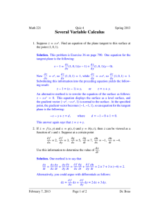 Several Variable Calculus