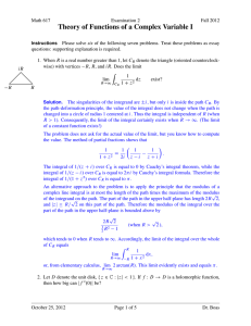 Theory of Functions of a Complex Variable I