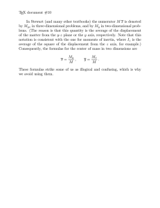 TEX document #10 M x M in two-dimensional prob-