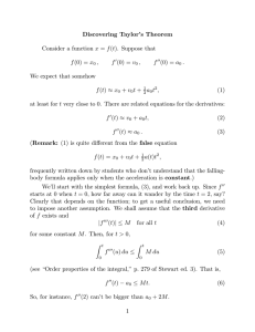 Discovering Taylor's Theorem x v a