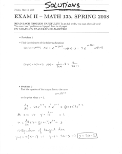 - EXAM II MATH 135, SPRING 2008