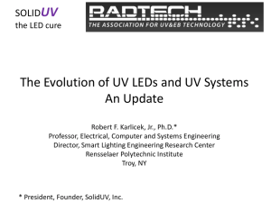 The Evolution of UV LEDs and UV Systems An Update  UV