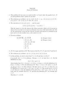 Math 220 Exam #3 Solutions