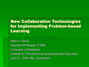 New Collaboration Technologies for Implementing Problem-based Learning