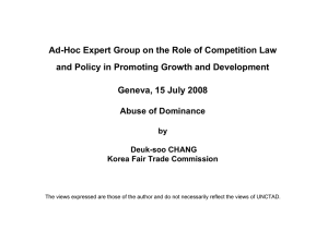 Ad-Hoc Expert Group on the Role of Competition Law