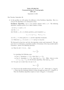 Math 470.200/501 Communications & Cryptography HW #2 September 8, 2011