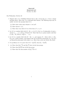 Math 627 Homework #3 October 13, 2014 Due Wednesday, October 22