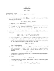 Math 654 Homework #3 April 15, 2007 Due Wednesday, April 25.