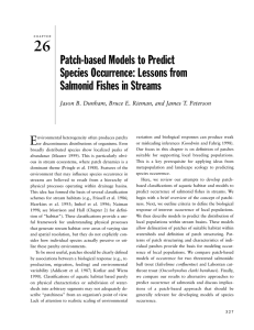 26 Patch-based Models to Predict Species Occurrence: Lessons from Salmonid Fishes in Streams