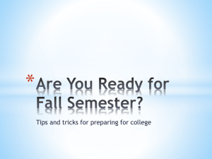 * Tips and tricks for preparing for college