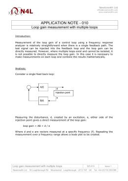 APPLICATION NOTE - 010 Loop gain measurement with multiple loops