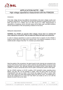 APPLICATION NOTE - 006 High voltage capacitance measurement with the PSM2200