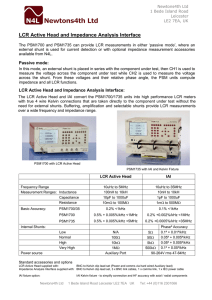 LCR Active Head and Impedance Analysis Interface