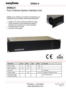 DSSIU-4 Four Channel System Interface Unit