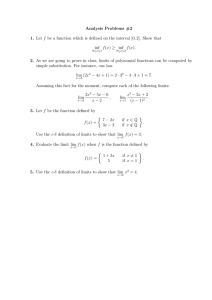 Analysis Problems #2 1. 2. inf
