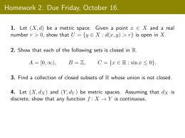 Homework 2. Due Friday, October 16.
