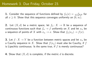 Homework 3. Due Friday, October 23.