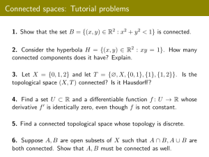 Connected spaces: Tutorial problems
