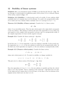 12 Stability of linear systems