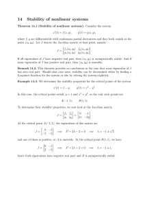 14 Stability of nonlinear systems