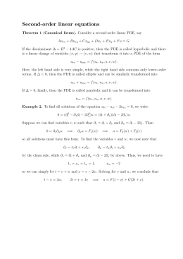 Second-order linear equations