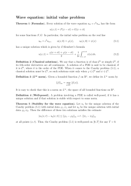 Wave equation: initial value problem