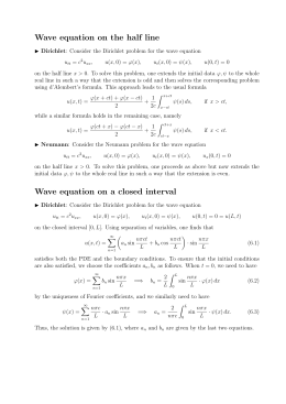 Wave equation on the half line