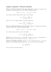 Laplace equation: Poisson formulas