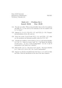 Math 411 — Problem Set 1 Issued: 09.02 Due: 09.09