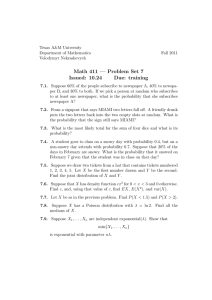 Math 411 — Problem Set 7 Issued: 10.24 Due: training