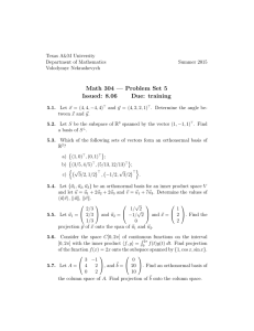 Math 304 — Problem Set 5 Issued: 8.06 Due: training