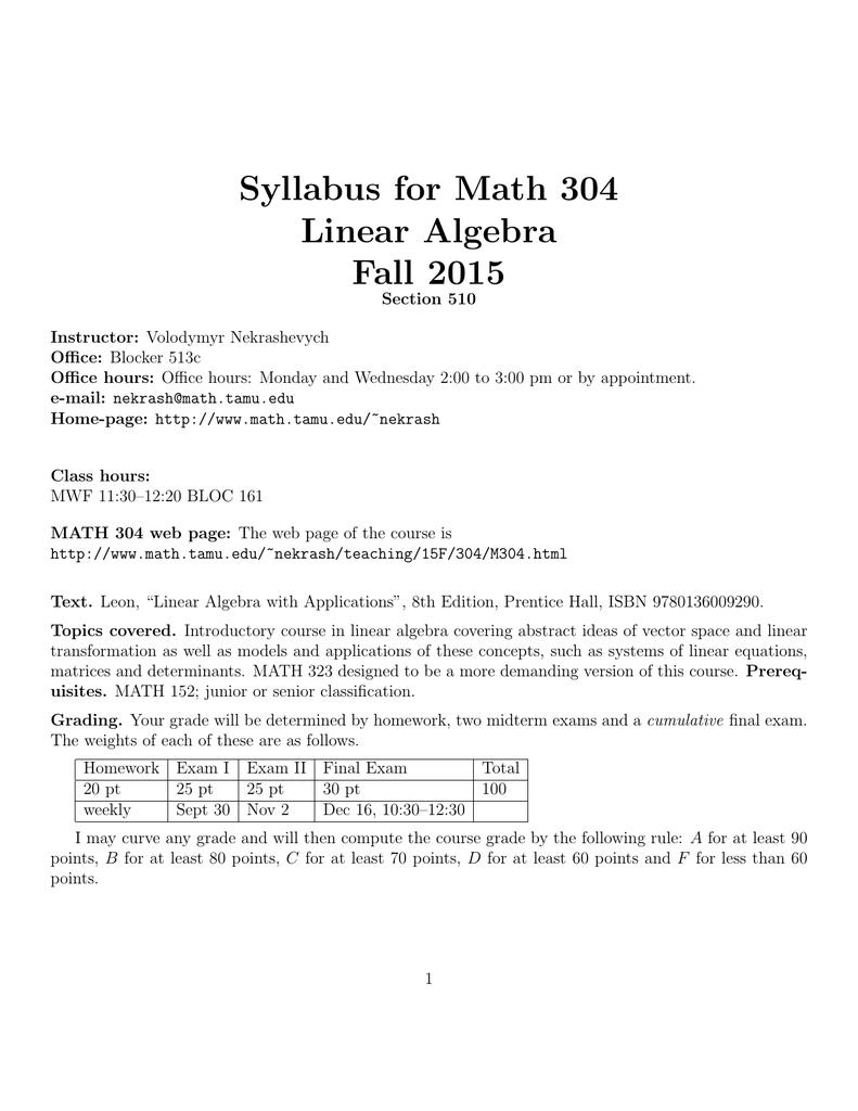 grade b syllabus