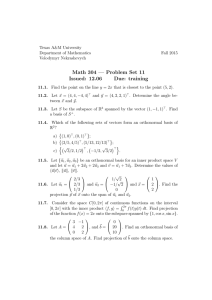 Math 304 — Problem Set 11 Issued: 12.06 Due: training