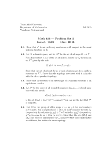 Math 636 — Problem Set 5 Issued: 10.09 Due: 10.16