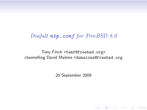 Deafult ntp.conf for FreeBSD 8.0