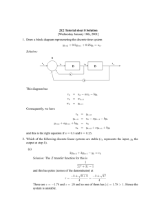 2E2 Tutorial sheet 8 Solution [Wednesday January 10th, 2001] This diagram has