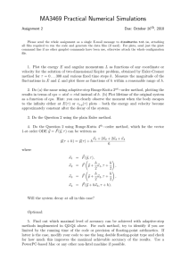 MA3469 Practical Numerical Simulations Assignment 2 Due: October 26