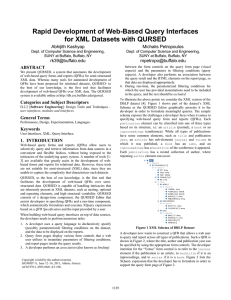 Rapid Development of Web-Based Query Interfaces for XML Datasets with QURSED