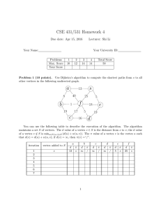 CSE 431/531 Homework 4 Due date: Apr 15, 2016 Lecturer: Shi Li