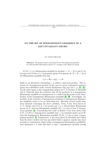 ON THE SET OF HOMOGENEOUS GEODESICS OF A LEFT-INVARIANT METRIC by J´