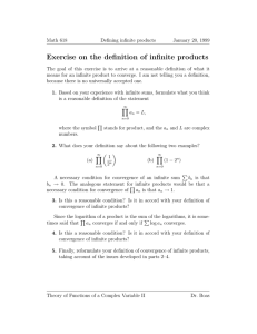 Exercise on the definition of infinite products