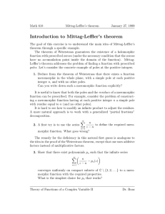 Introduction to Mittag-Leffler's theorem