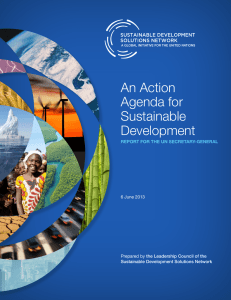 An Action Agenda for Sustainable Development