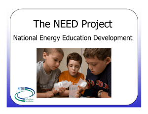The NEED Project National Energy Education Development