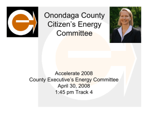 Onondaga County Citizen's Energy Committee Accelerate 2008