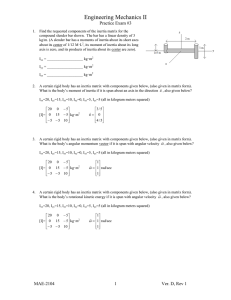 Engineering Mechanics II  Practice Exam #3