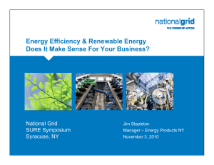 Title Slide Energy Efficiency & Renewable Energy National Grid