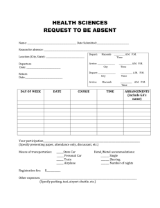 HEALTH SCIENCES REQUEST TO BE ABSENT
